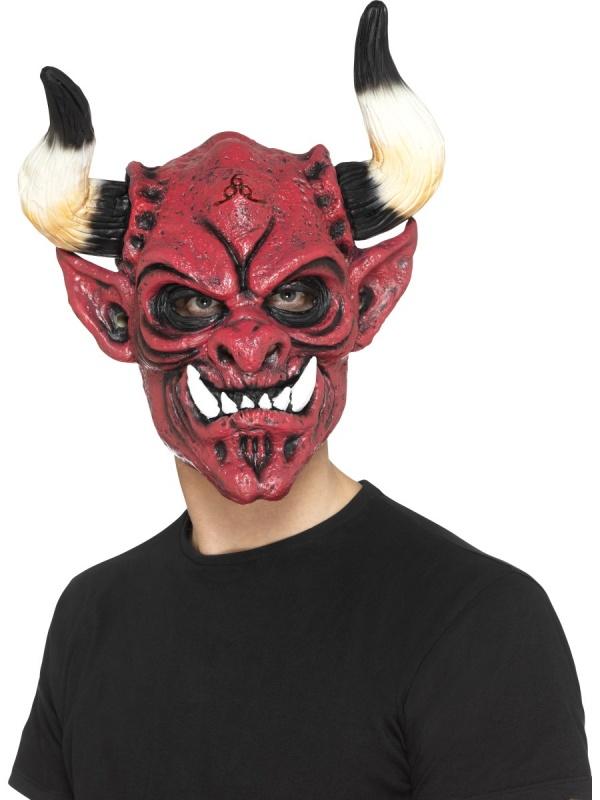 67d0a37fe Ďáblova latexová maska - Nejlevnější Ptákoviny