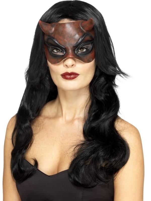 582b745dd Latexová půlobličejová maska Královna pekel - Nejlevnější Ptákoviny