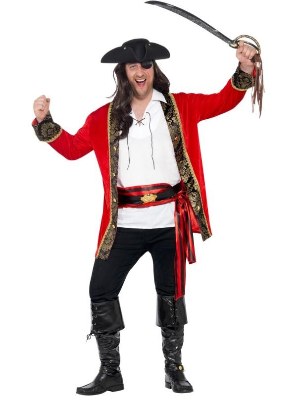 8cc5daf9b50 Pánský kostým Pirátský velitel - Nejlevnější Ptákoviny