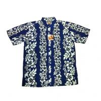 Havajská košile - modrá s bílými květy 9e65059ea5