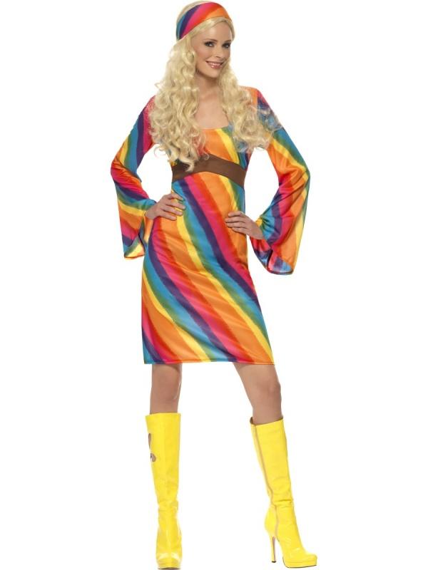 Kostým pro ženy - Hippie duha - Nejlevnější Ptákoviny 448059886d